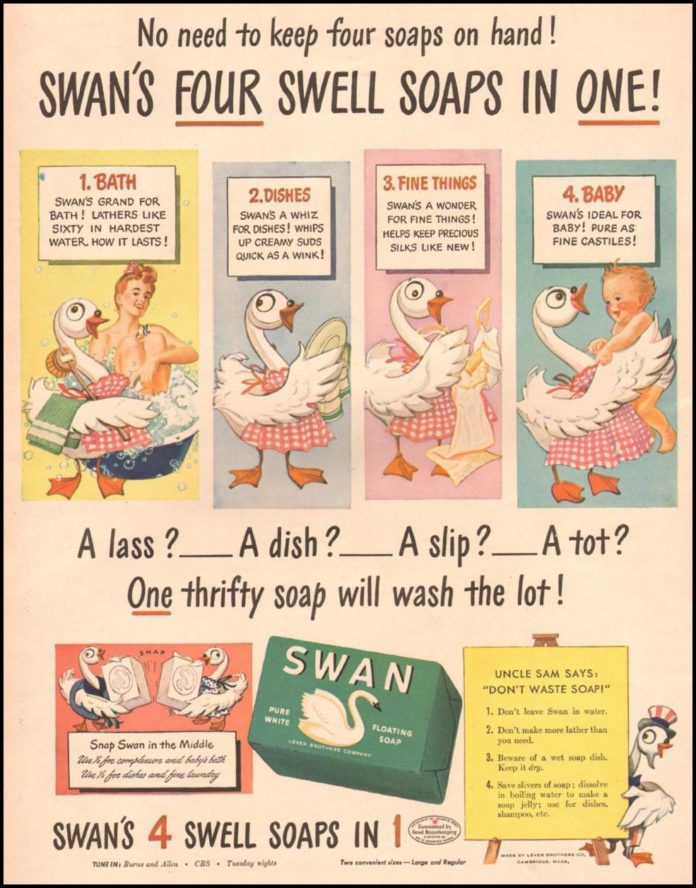 SWAN SOAP LIFE 10/25/1943 p. 40