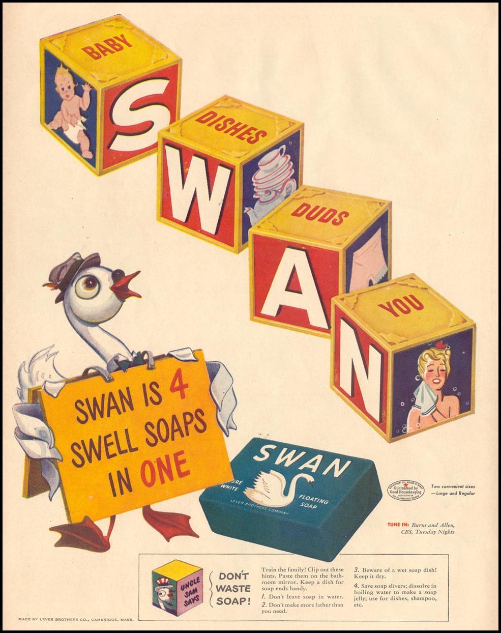 SWAN SOAP LIFE 11/08/1943