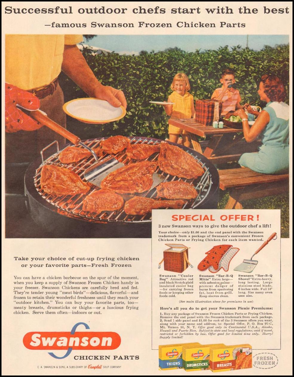 SWANSON FROZEN CHICKEN PARTS LIFE 09/09/1957 p. 37