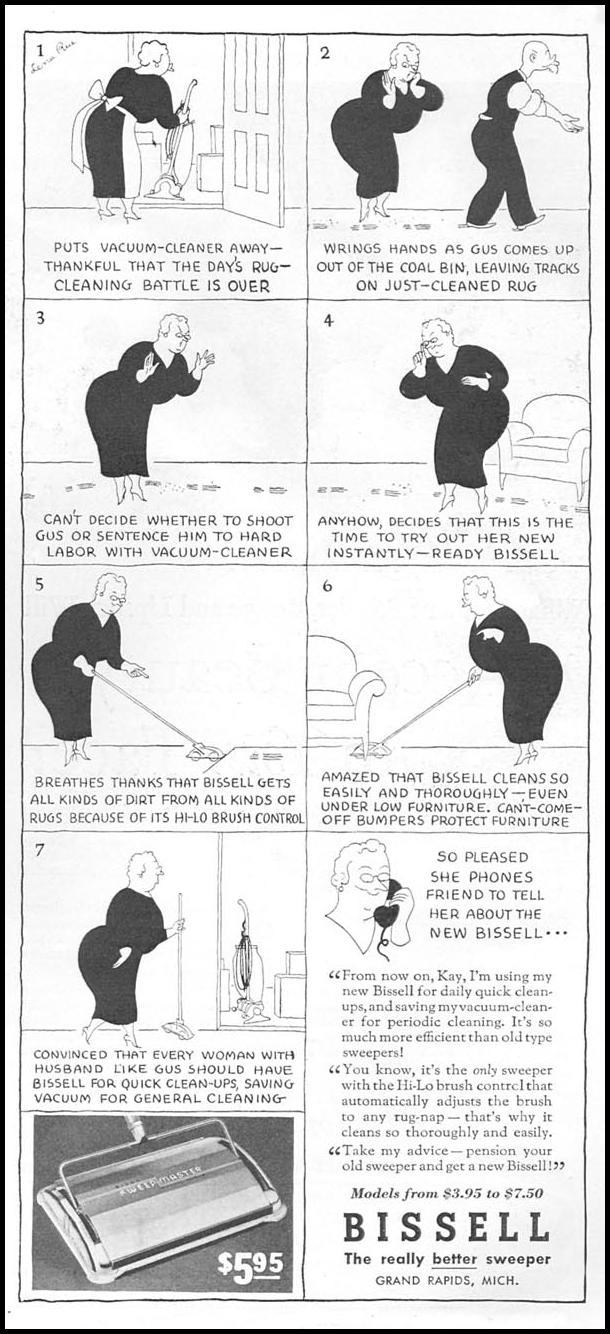 BISSELL SWEEPERS GOOD HOUSEKEEPING 04/01/1936 p. 167