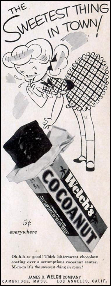 WELCH'S COCOANUT CANDY LIFE 10/19/1953 p. 12