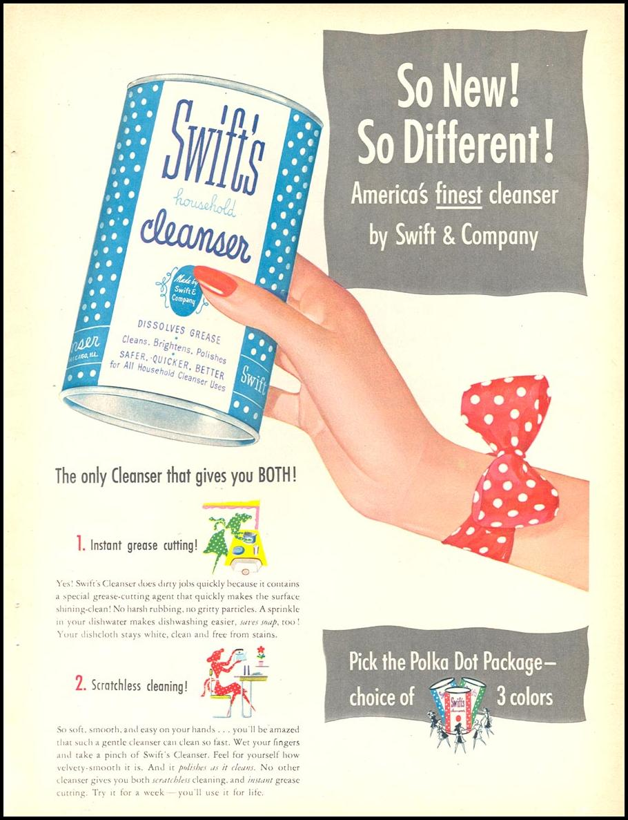 SWIFT'S CLEANSER WOMAN'S DAY 05/01/1947 p. 19