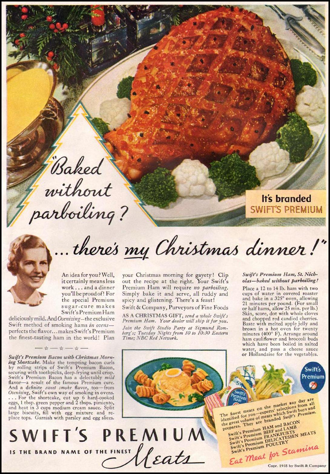 SWIFT'S PREMIUM MEATS GOOD HOUSEKEEPING 12/01/1935