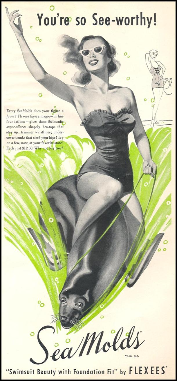 SEAMOLDS SWIMSUITS WOMAN'S DAY 06/01/1950 p. 19