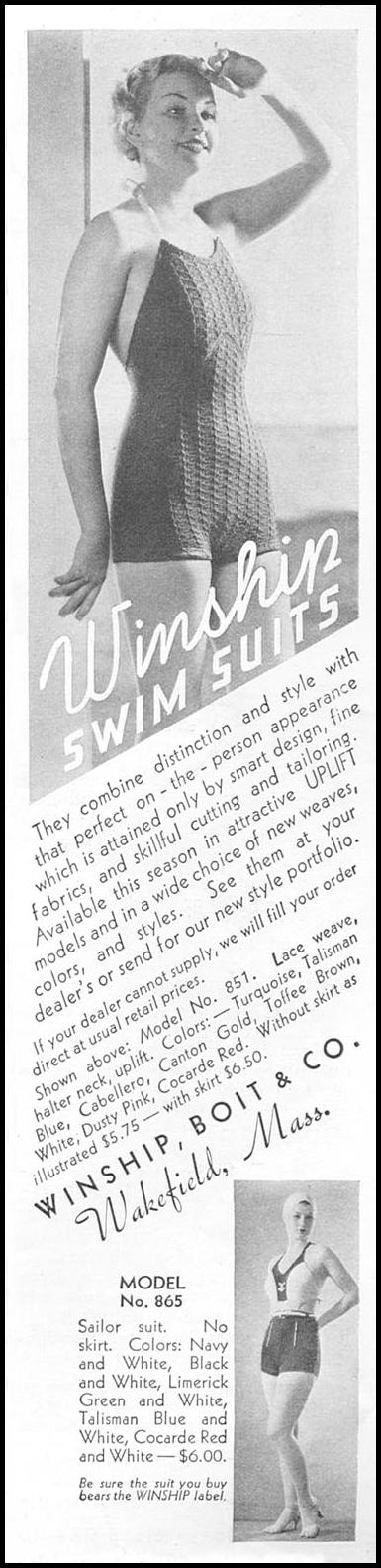 WINSHIP SWIM SUITS GOOD HOUSEKEEPING 06/01/1935 p. 149