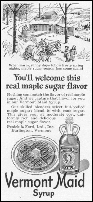 VERMONT MAID SYRUP WOMAN'S DAY 10/01/1949 p. 140