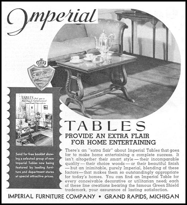 IMPERIAL TABLES GOOD HOUSEKEEPING 12/01/1934 p. 194