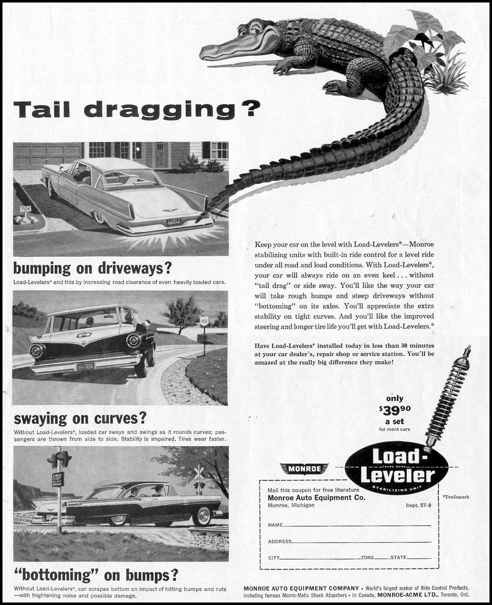 MONROE LOAD-LEVELER STABILIZING UNIT SATURDAY EVENING POST 08/15/1959