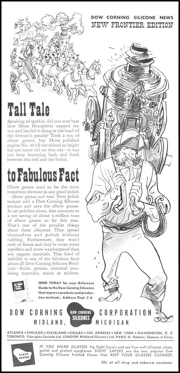 DOW CORNING SILICONE NEWSWEEK 06/11/1951 p. 14
