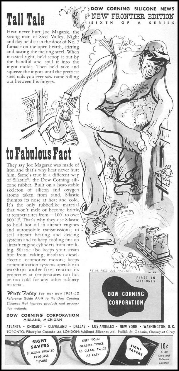 DOW CORNING SILICONE NEWSWEEK 09/03/1951 p. 5