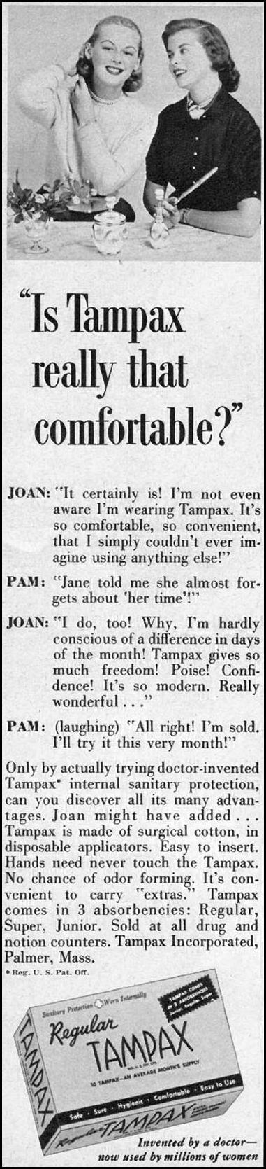 TAMPAX FAMILY CIRCLE 02/01/1957 p. 60