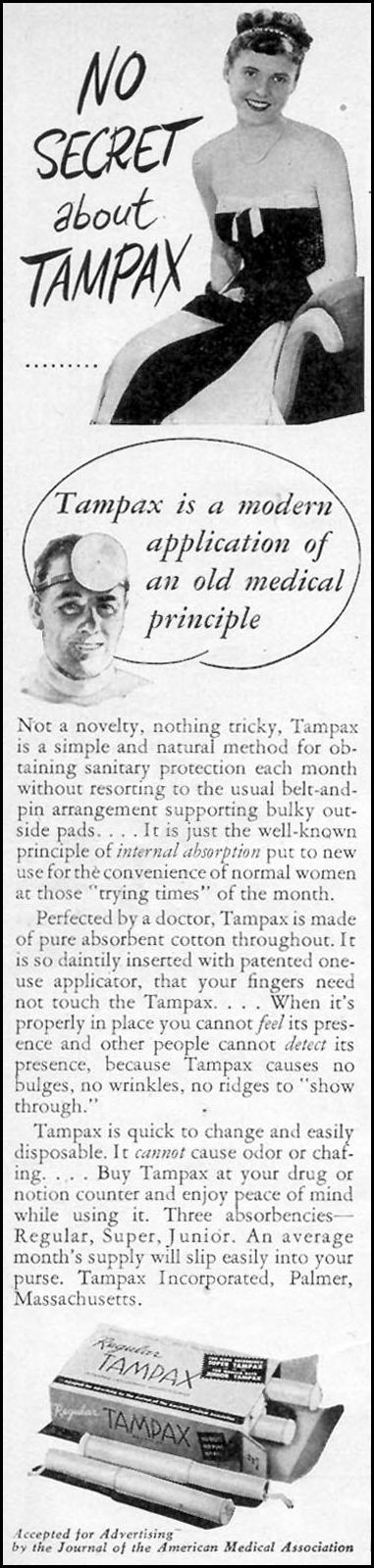 TAMPAX WOMAN'S DAY 02/01/1947 p. 14