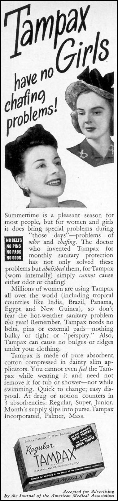 TAMPAX WOMAN'S DAY 08/01/1948 p. 2