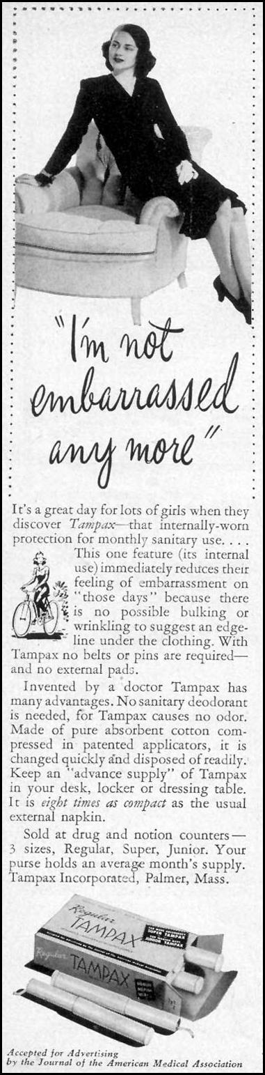 TAMPAX WOMAN'S DAY 09/01/1946 p. 66