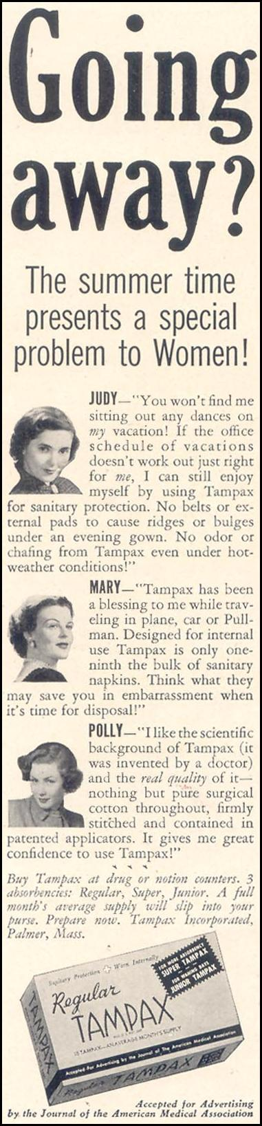 TAMPAX GOOD HOUSEKEEPING 07/01/1949 p. 112