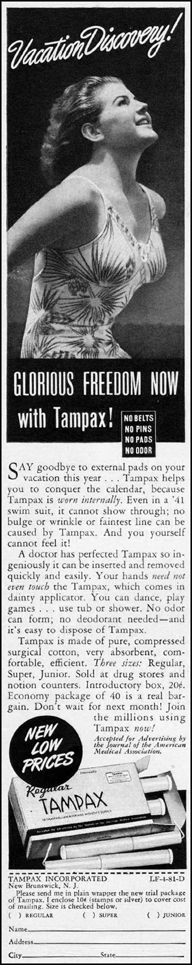 TAMPAX LIFE 08/04/1941 p. 84