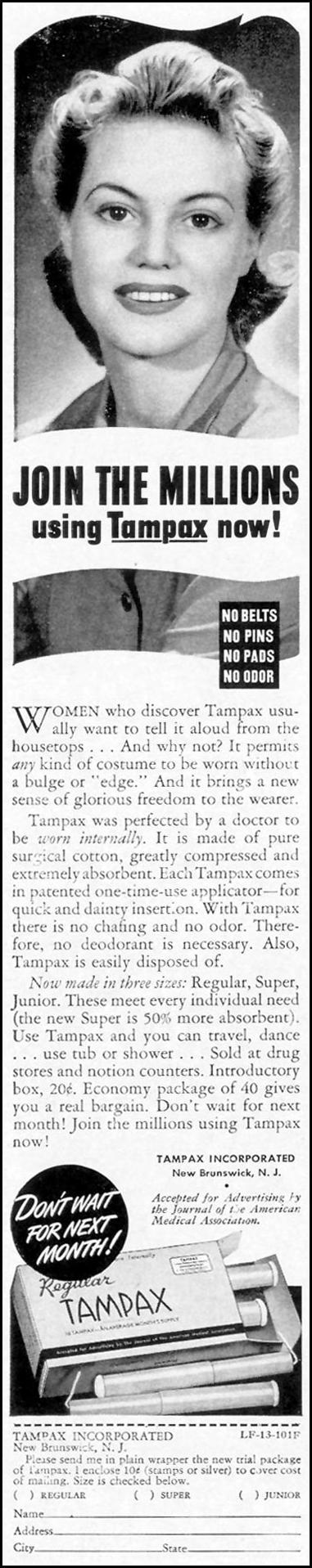 TAMPAX LIFE 10/13/1941 p. 148