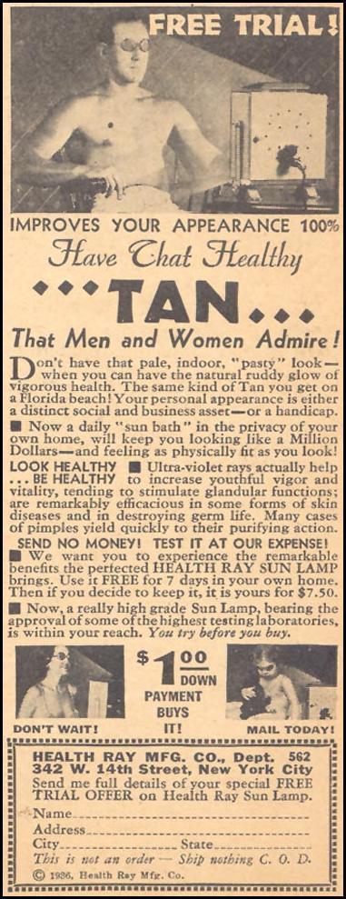 HEALTH RAY SUN LAMP LIBERTY 02/15/1936 p. 47