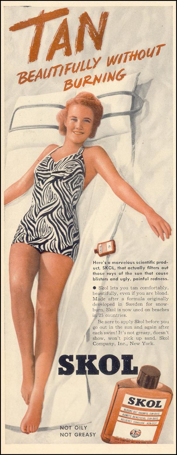 SKOL SUN TAN LOTION LIFE 07/24/1939 p. 36