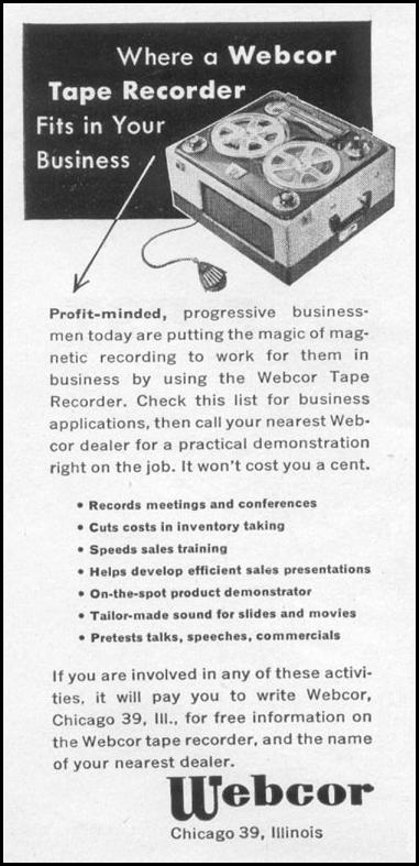 TAPE RECORDER TIME 08/31/1953 p. 86