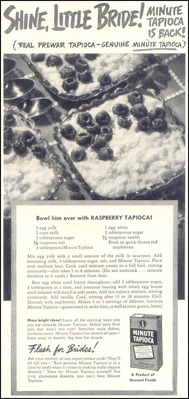 MINUTE TAPIOCA GOOD HOUSEKEEPING 07/01/1948 p. 123