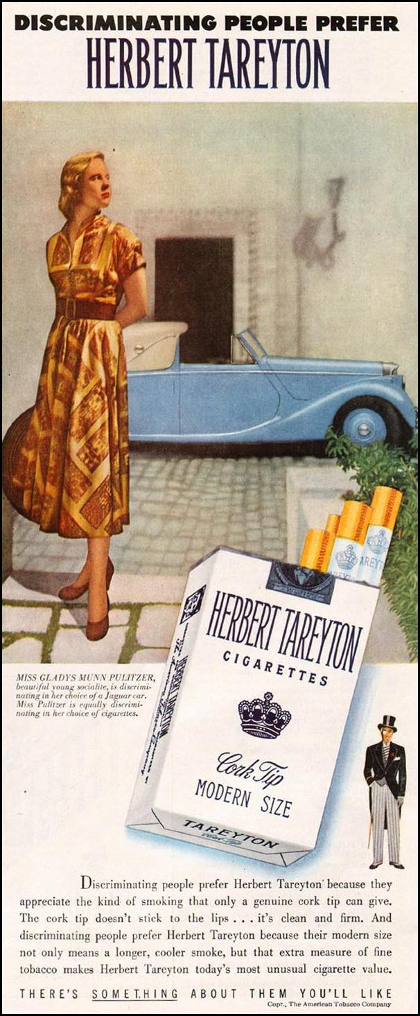 TAREYTON CIGARETTES LADIES' HOME JOURNAL 07/01/1949 p. 75