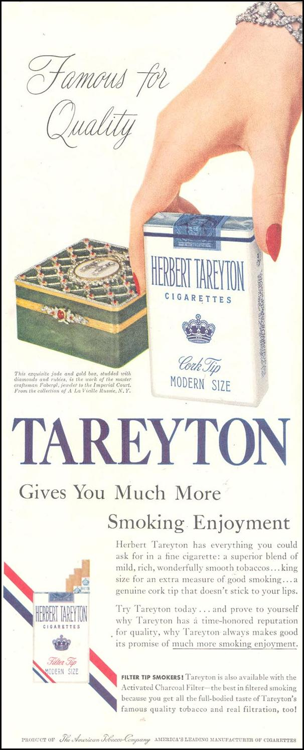 TAREYTON CIGARETTES SATURDAY EVENING POST 06/04/1955 p. 61