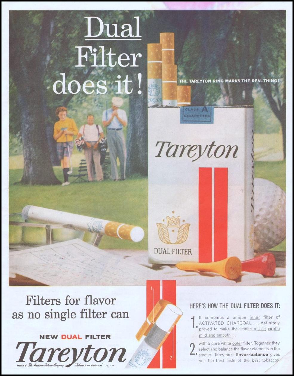 TAREYTON CIGARETTES SATURDAY EVENING POST 06/04/1960 p. 5