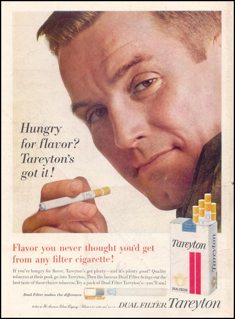 TAREYTON CIGARETTES TIME 07/16/1962 BACK COVER