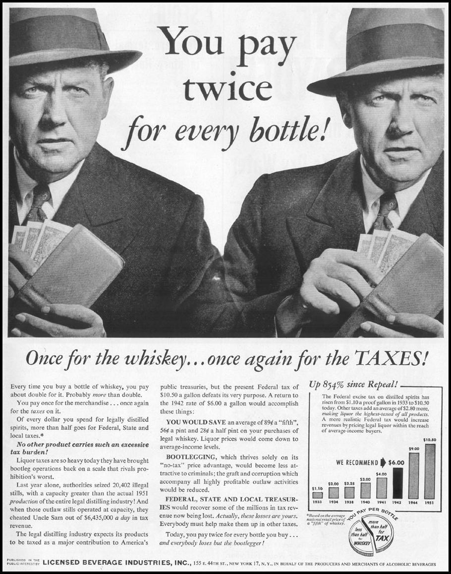 ALCOHOLIC BEVERAGE TAXATION LIFE 10/13/1952 p. 145