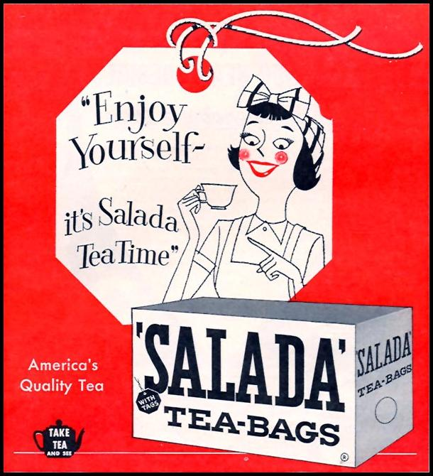 SALADA TEA-BAGS FAMILY CIRCLE 02/01/1956 p. 85