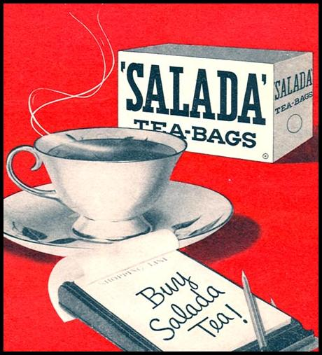 SALADA TEA WOMAN'S DAY 04/01/1956 p. 125