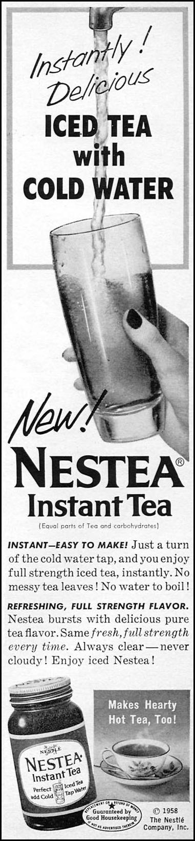 NESTEA INSTANT TEA WOMAN'S DAY 06/01/1958 p. 15