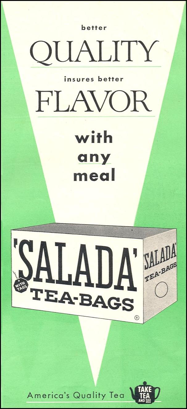 SALADA TEA WOMAN'S DAY 12/01/1954 p. 131