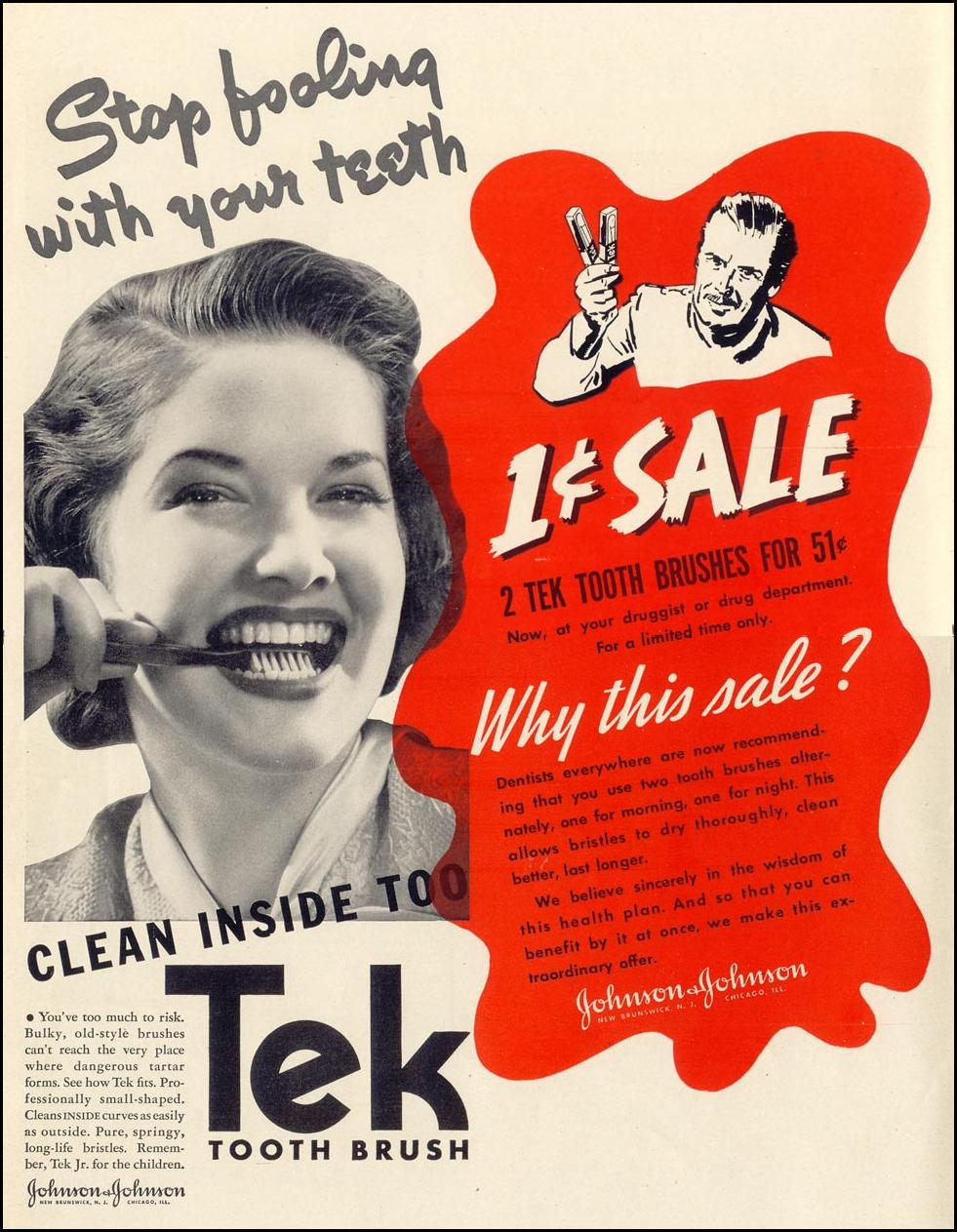 TEK TOOTH BRUSH LIFE 09/27/1937