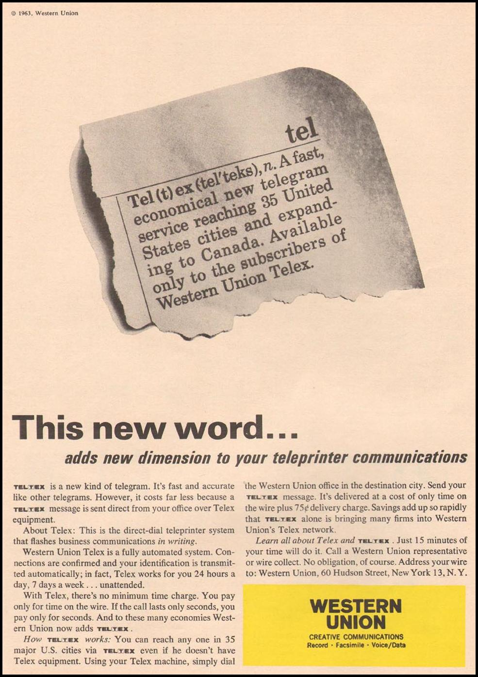TELTEX TELEX TELEGRAM TIME 02/08/1963 p. 33