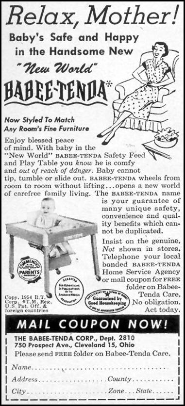 NEW WORLD BABEE-TENDA WOMAN'S DAY 10/01/1954 p. 162