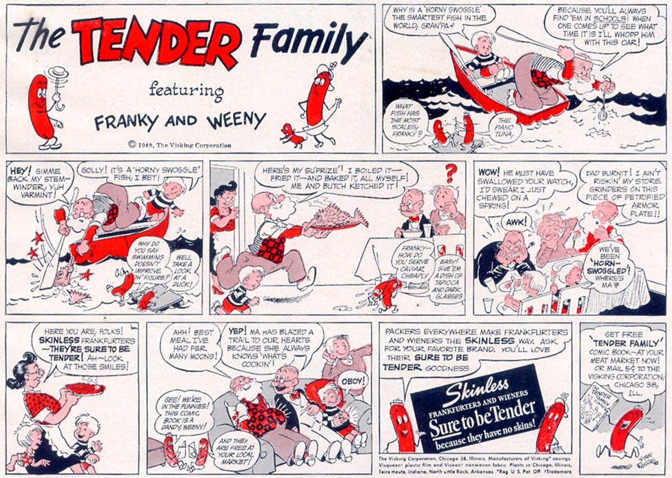 SKINLESS FRANKFURTERS AND WIENERS WOMAN'S DAY 06/01/1949 p. 79