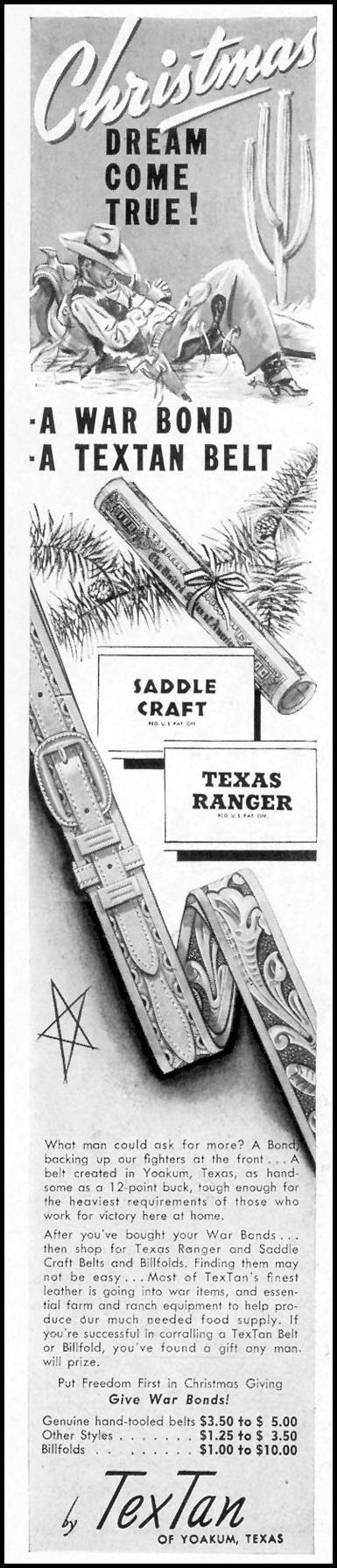 TEXTAN BELTS LIFE 11/08/1943 p. 84