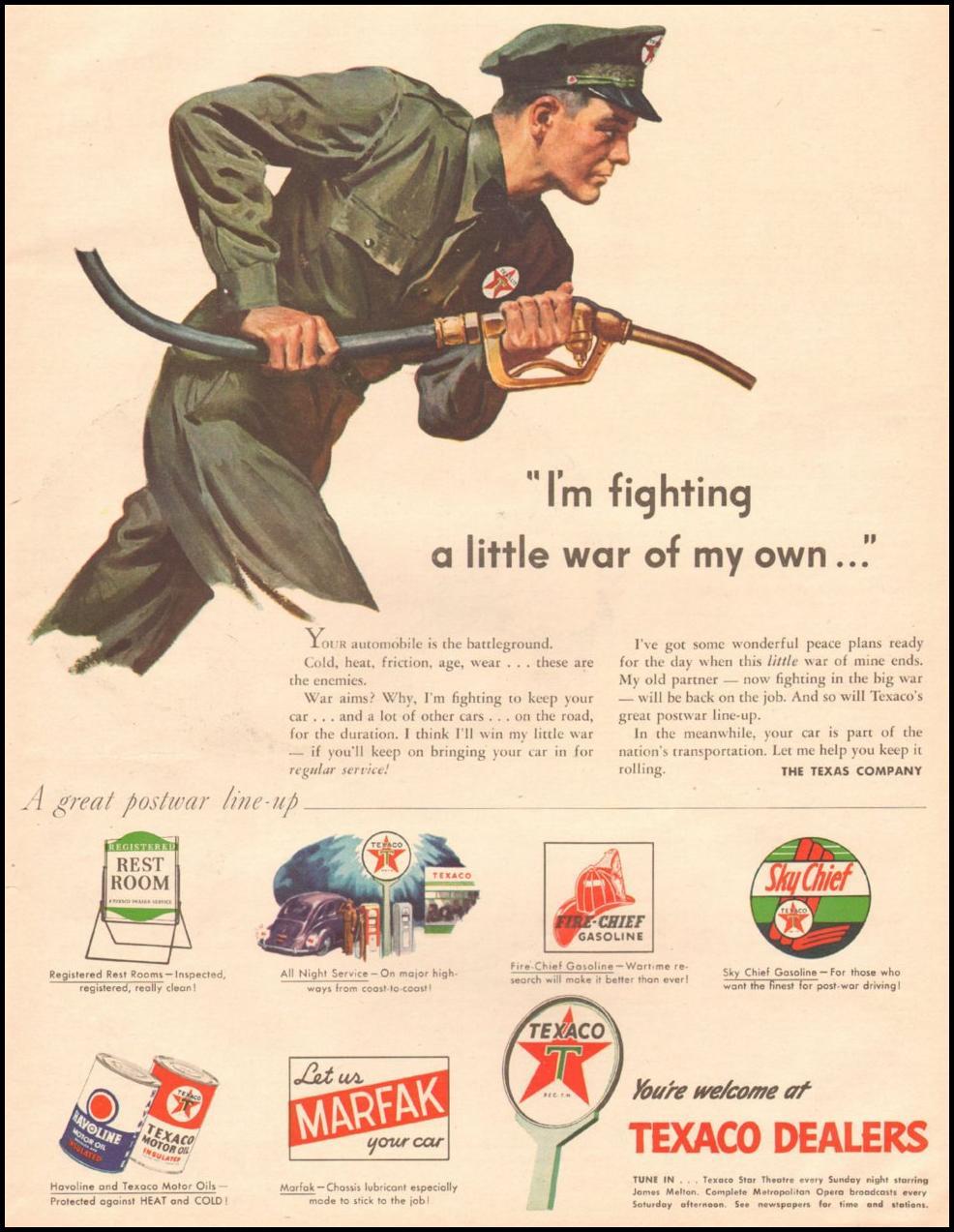 TEXACO DEALERS LIFE 03/12/1945