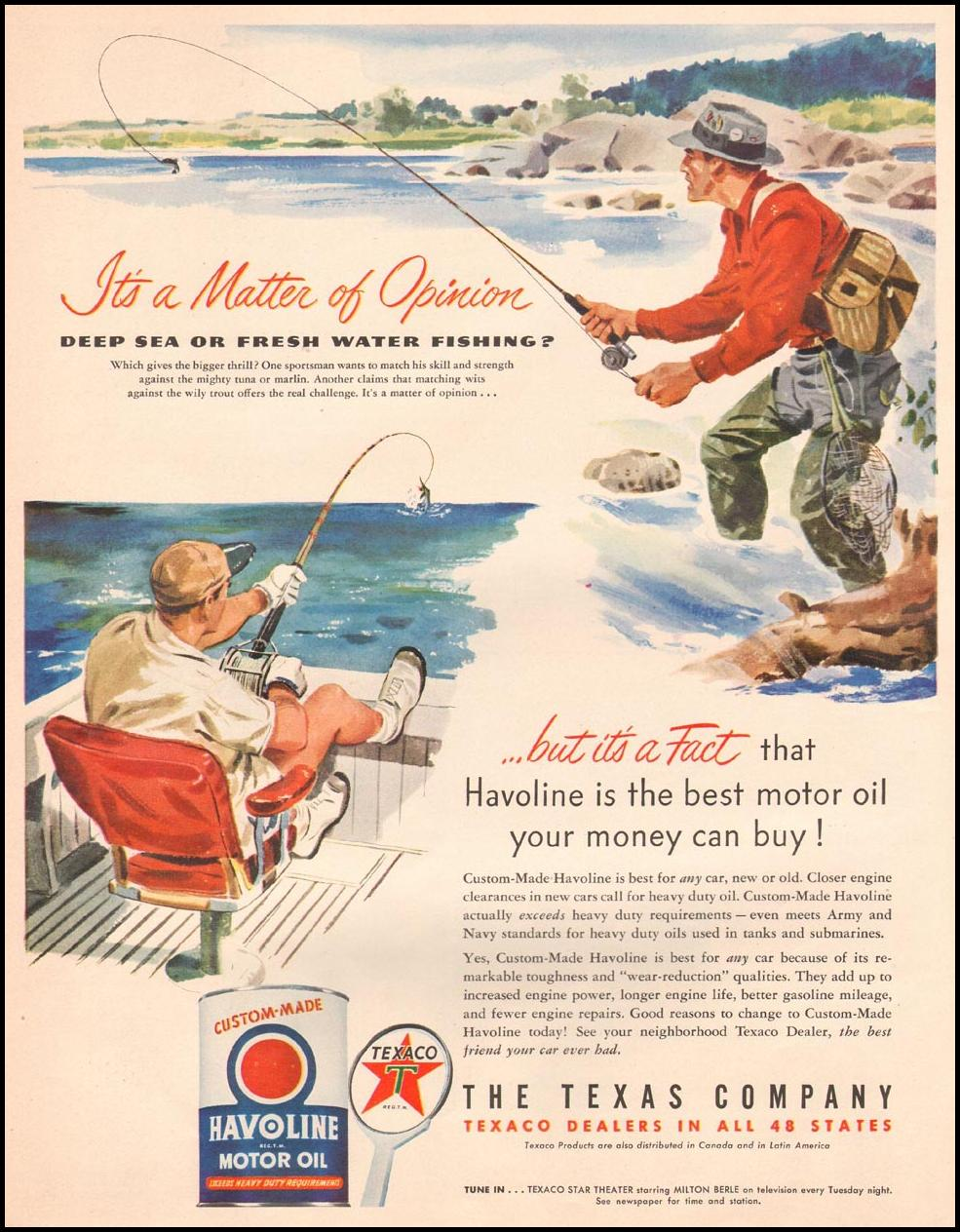 TEXACO HAVOLINE MOTOR OIL LIFE 04/30/1951 p. 72