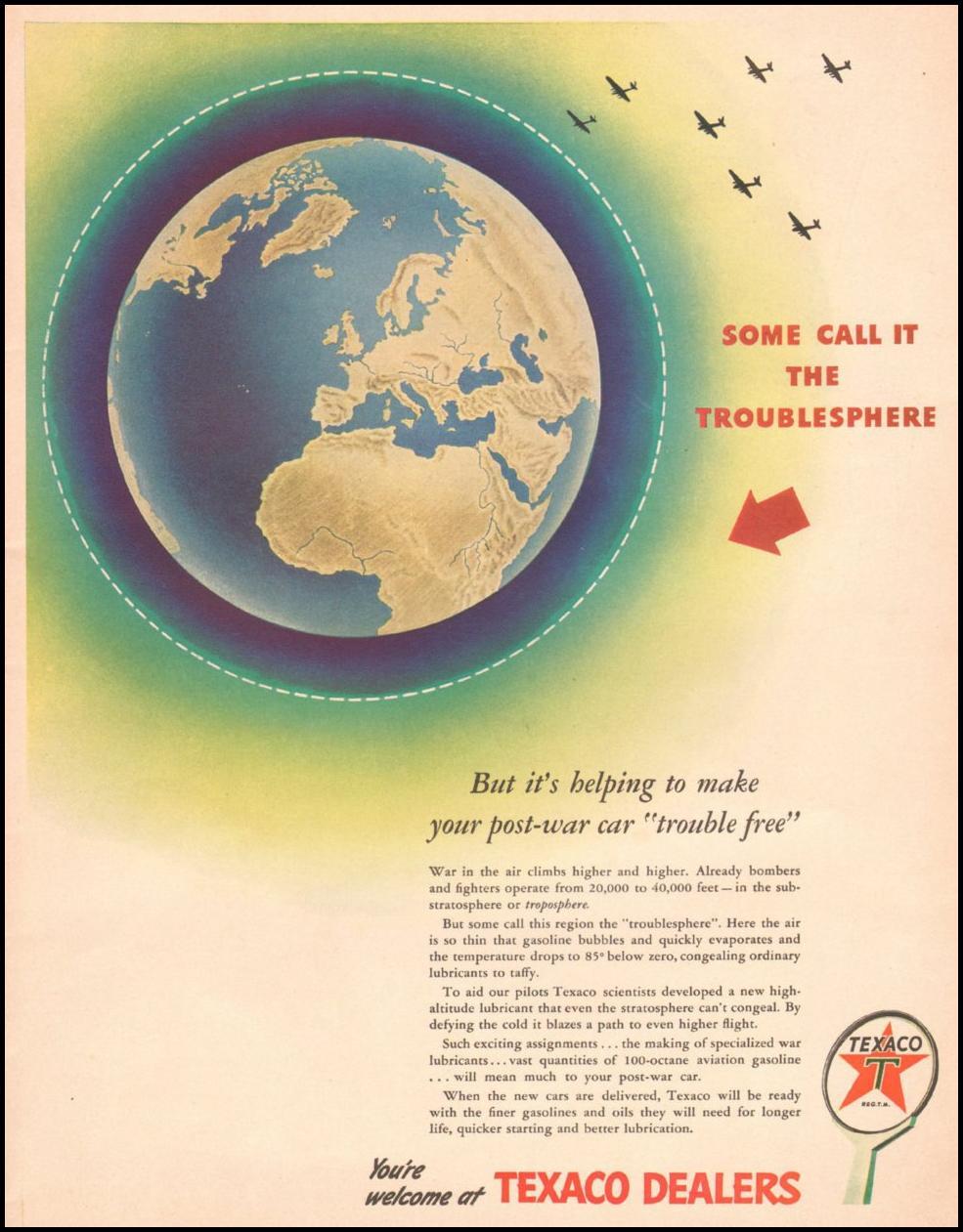 TEXACO DEALERS LIFE 10/25/1943