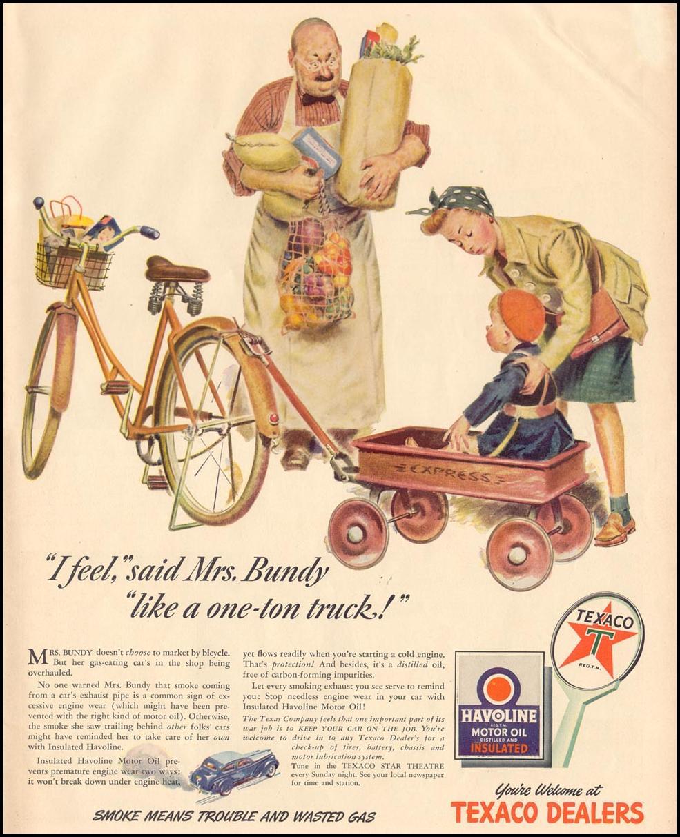 HAVOLINE MOTOR OIL LIFE 11/08/1943