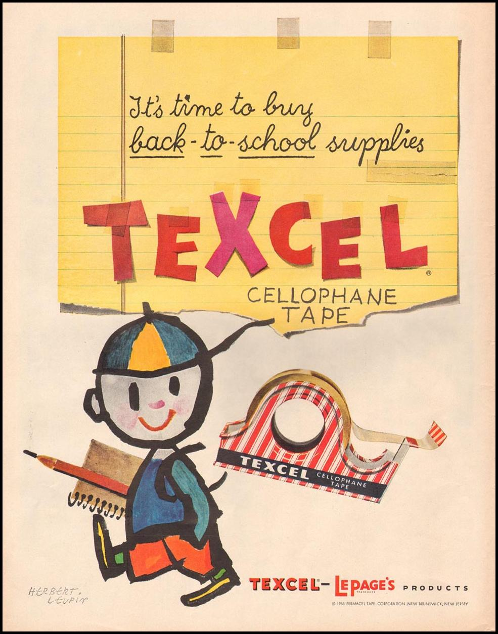 TEXCEL CELLOPHANE TAPE LIFE 09/09/1957 p. 120