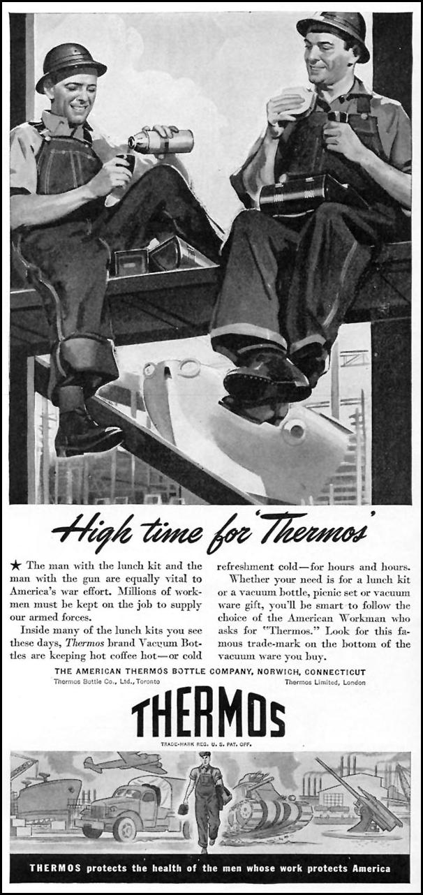 THERMOS INSULATED VACUUM BOTTLE TIME 06/15/1942 p. 49