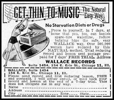 MUSICAL REDUCING PLAN WOMAN'S DAY 02/01/1950 p. 120