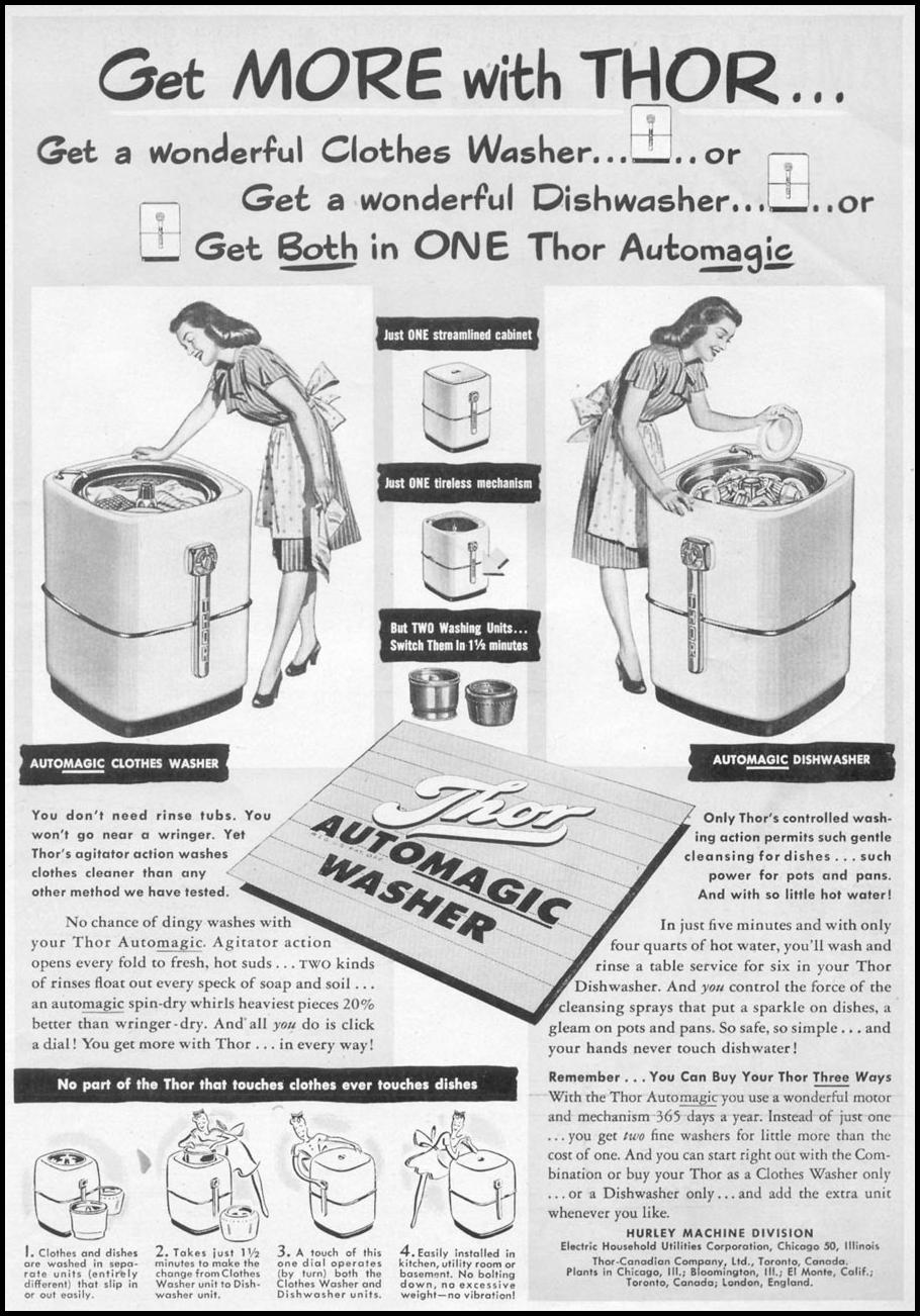 THOR AUTOMAGIC WASHER WOMAN'S DAY 05/01/1947 p. 5
