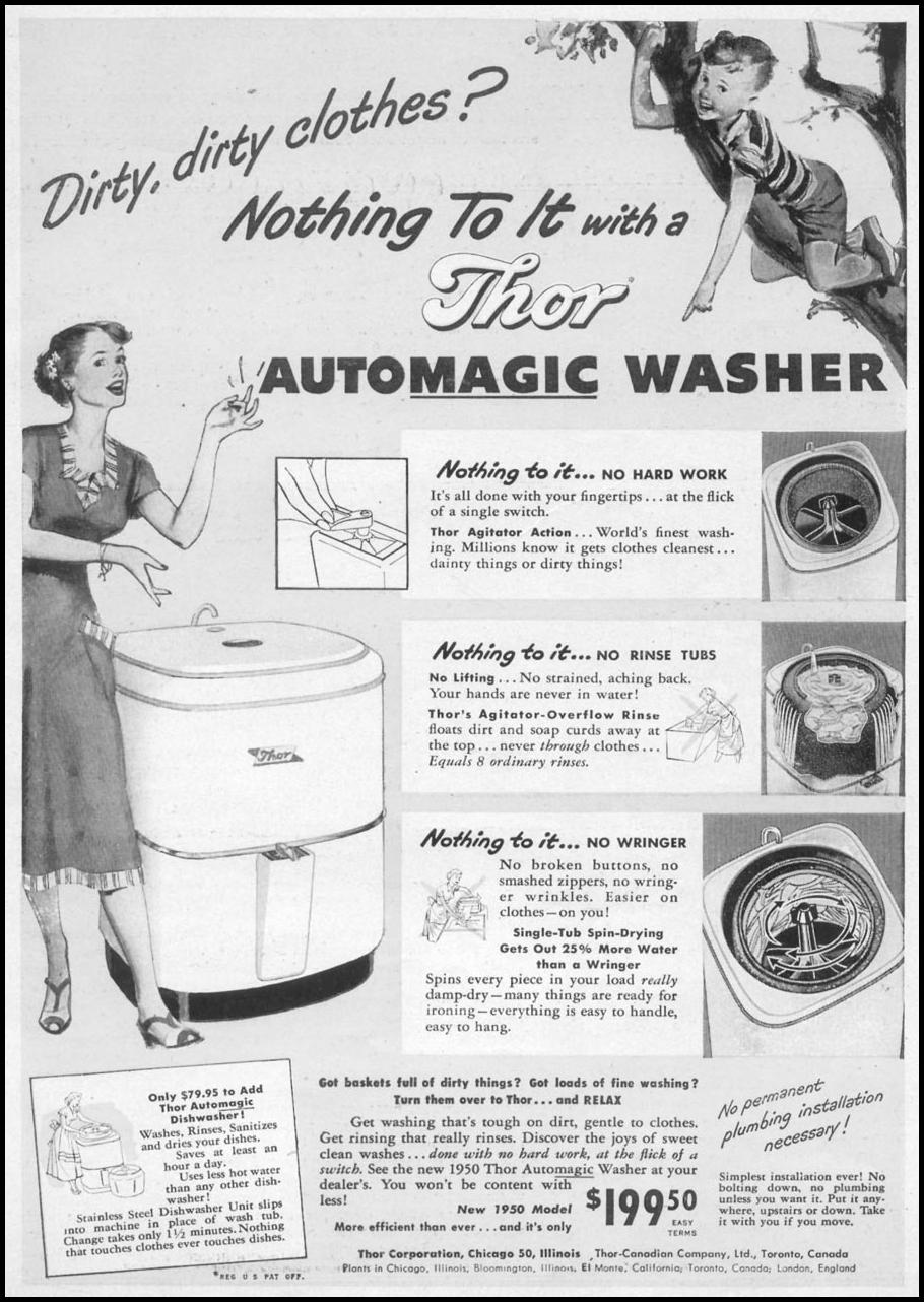 THOR AUTOMAGIC WASHER WOMAN'S DAY 10/01/1949 p. 7