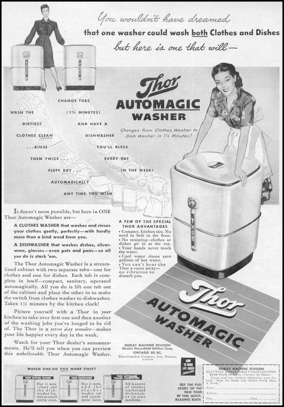 THOR AUTOMAGIC WASHER WOMAN'S DAY 11/01/1945 p. 73