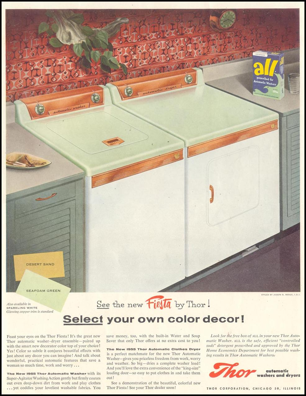 FIESTA WASHER AND DRYER SATURDAY EVENING POST 01/08/1955 INSIDE BACK